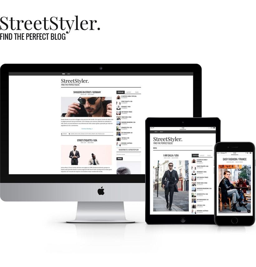 StreetStyler. Branding & blog design. 0