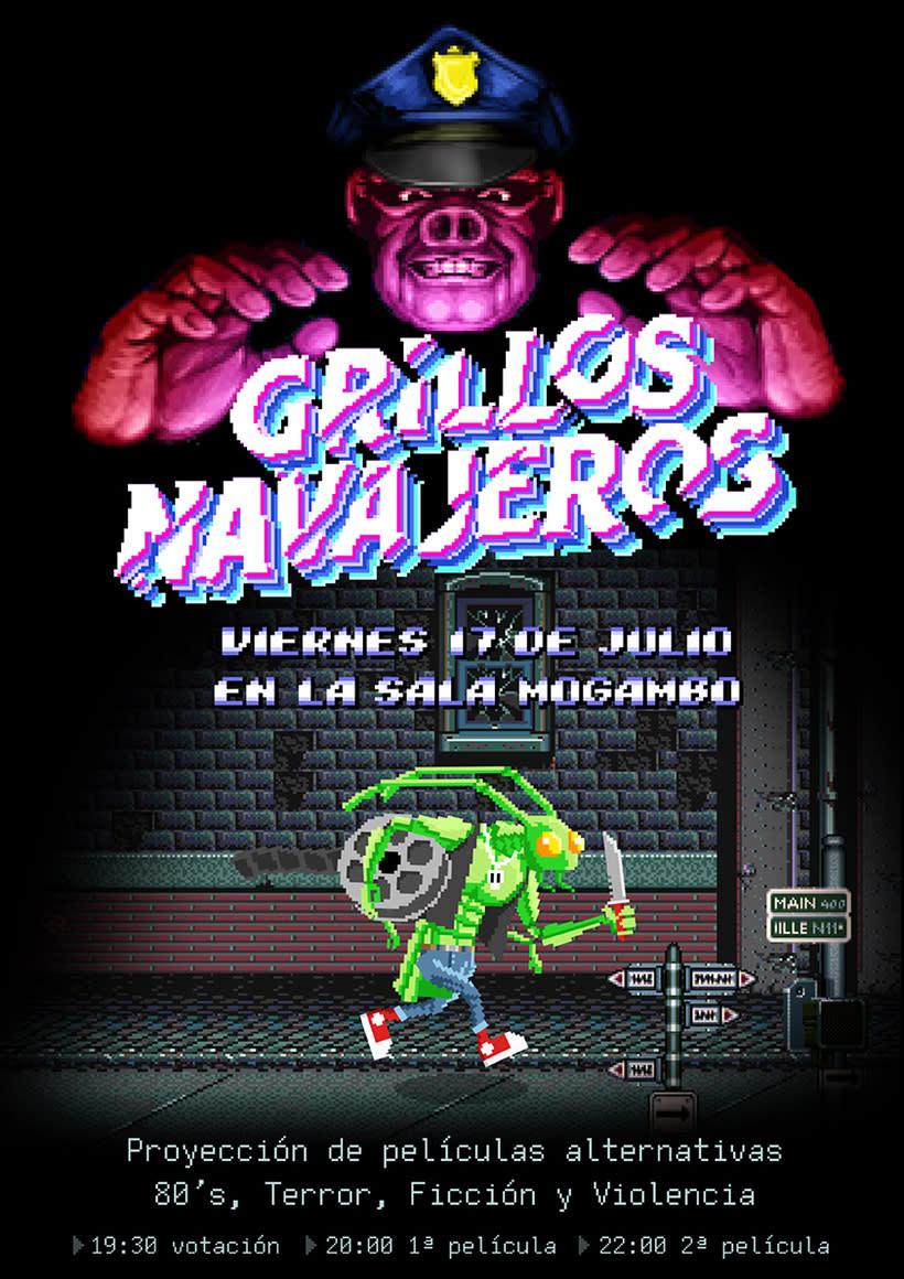 Poster animado de Grillos Navajeros 0