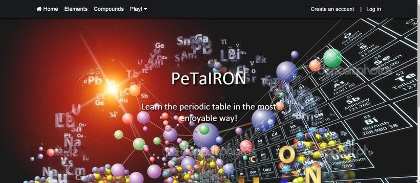 PeTaIRON, la web donde puedes aprenderte la tabla periódica de la forma más divertida. 1