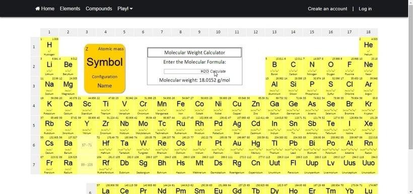 petairon la web donde puedes aprenderte la tabla peridica de la forma ms divertida - Tabla Periodica De Los Elementos H2o