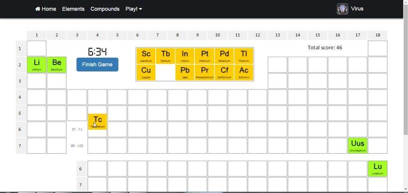 PeTaIRON, la web donde puedes aprenderte la tabla periódica de la forma más divertida. 16