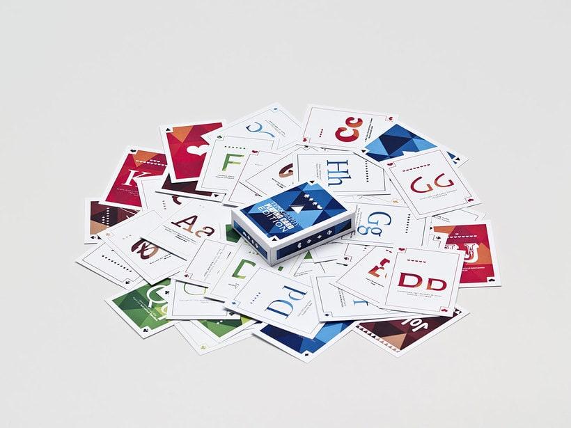 Juego de cartas tipográfico 6