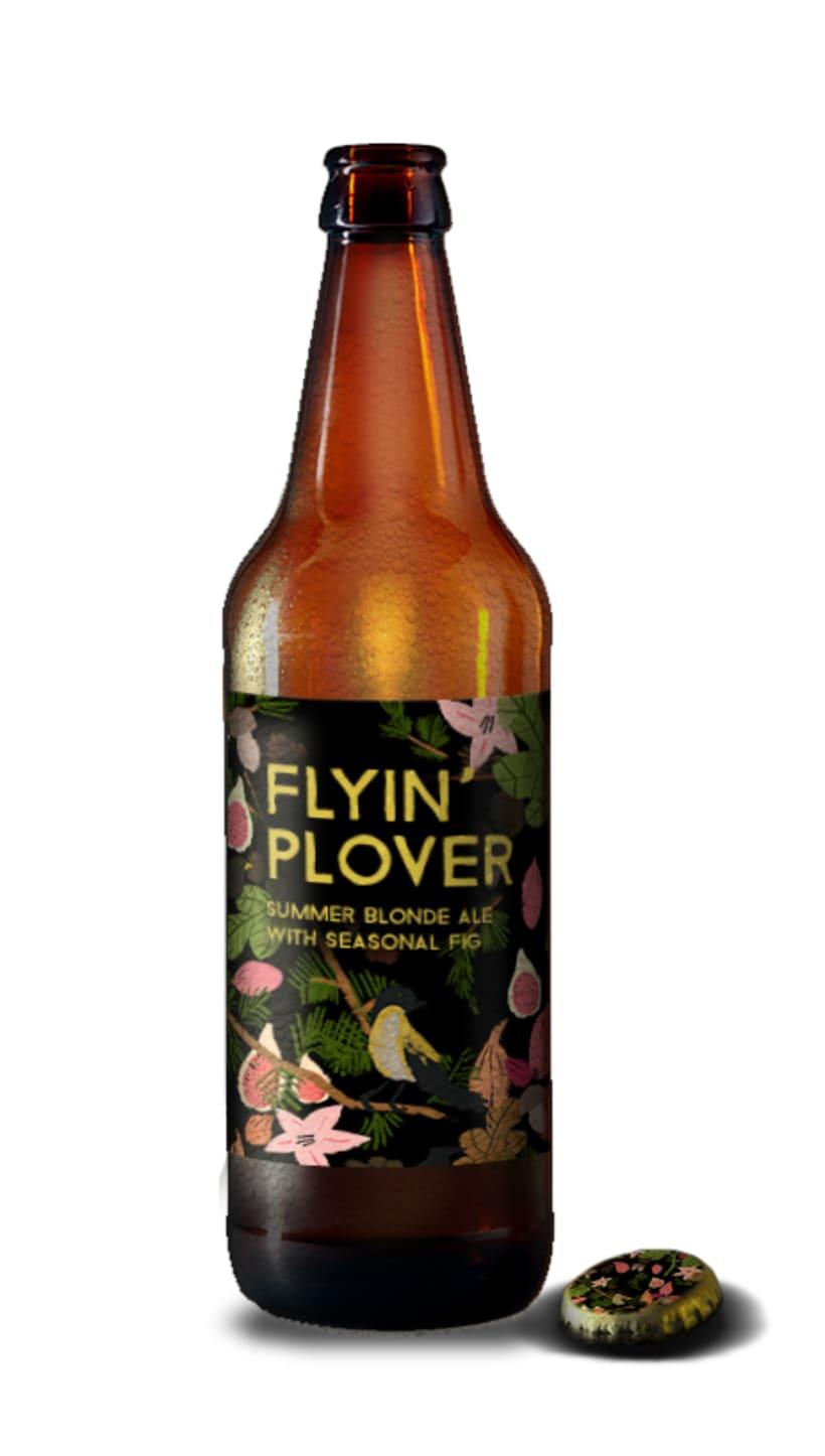 Flying' Plover, etiqueta para cerveza 2