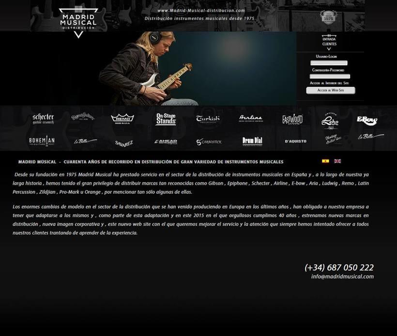 Landing Page Madrid Musical Distribuidora de Instrumentos Musicales -1