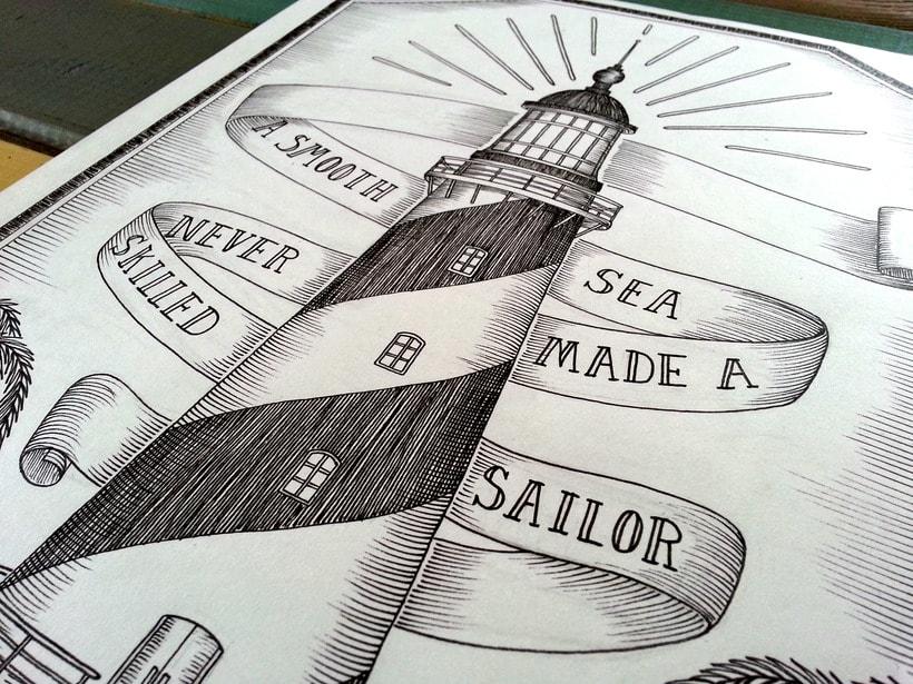 A smooth sea never made a skilled sailor 1