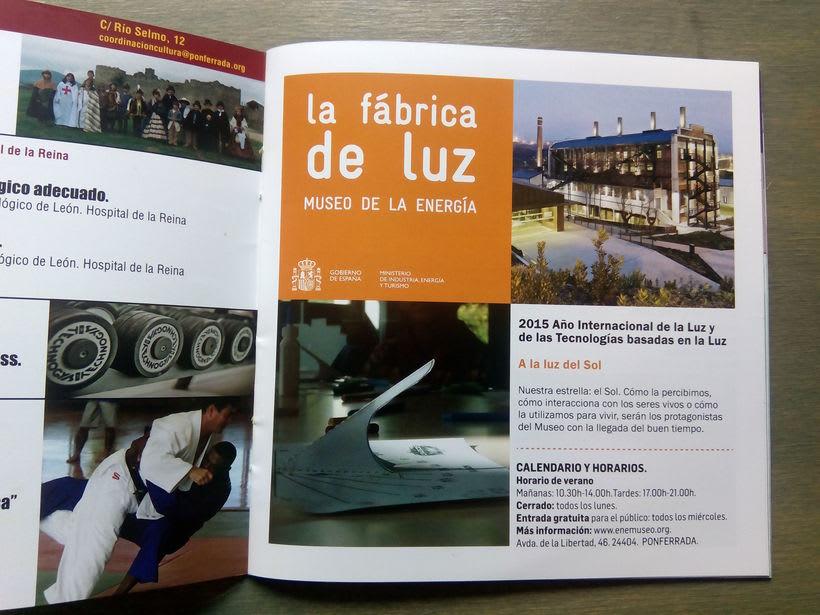 Maquetación de folleto para La Fábrica de Luz. Museo de la Energía 1
