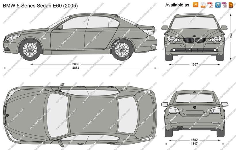 Impresión  3D, bmw serie 5 E60 -1