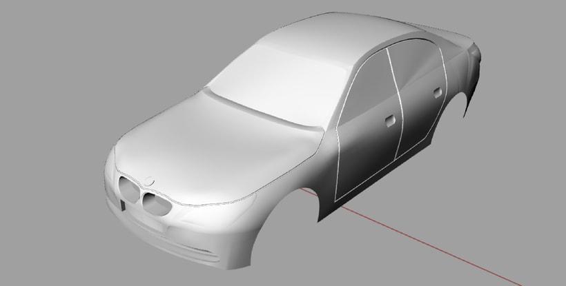 Impresión  3D, bmw serie 5 E60 7