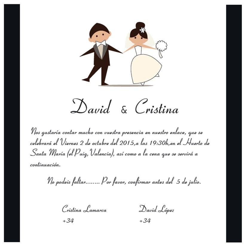 diseño para boda Cristina y David -1