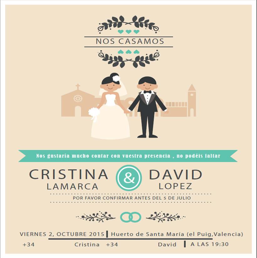 diseño para boda Cristina y David 0