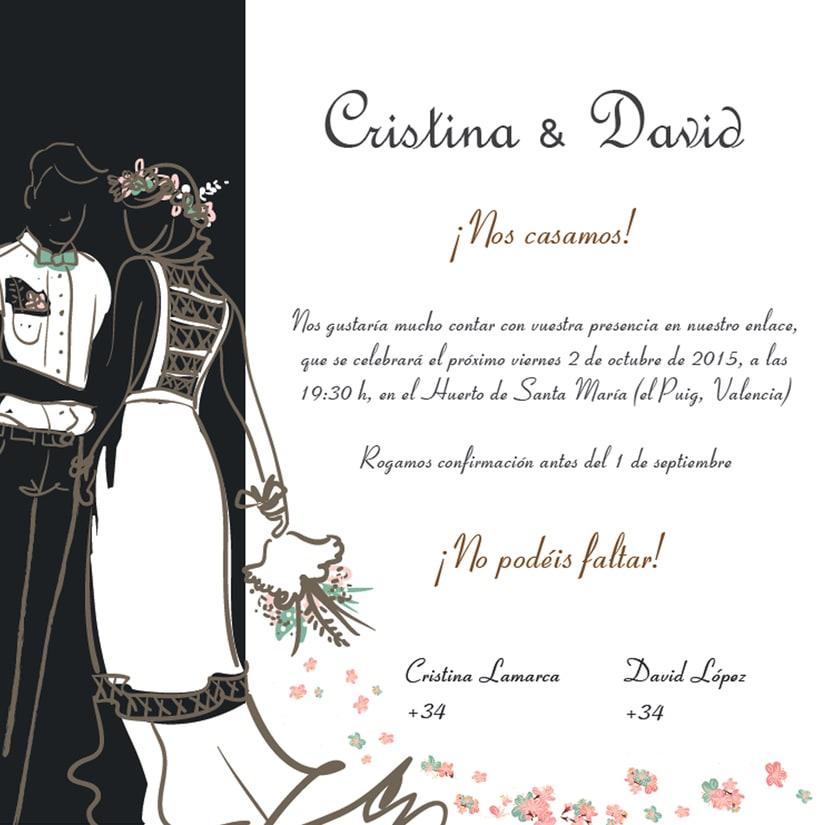 diseño para boda Cristina y David 1