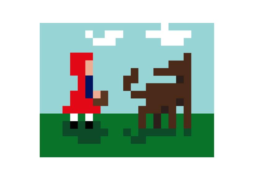 Caperucita píxel art  1