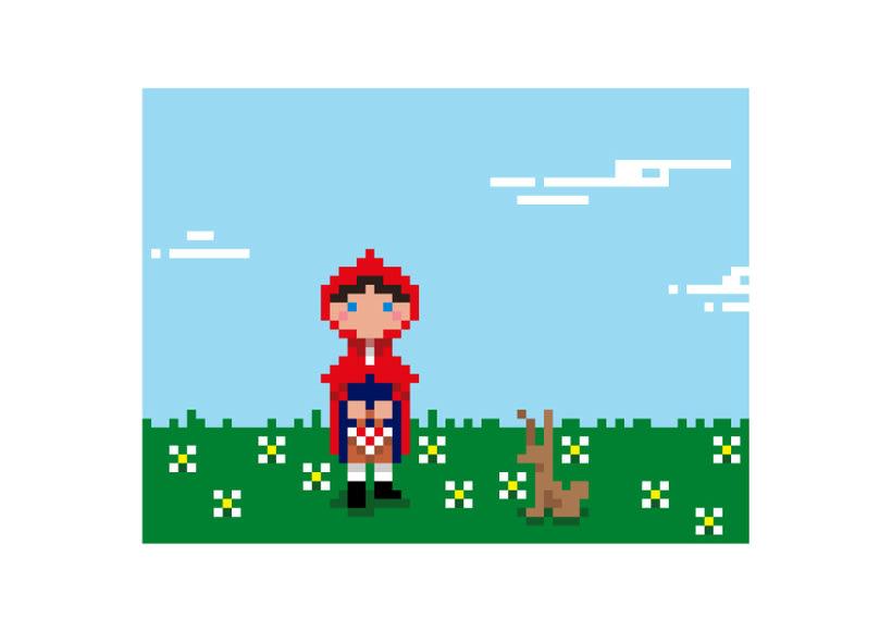 Caperucita píxel art  2