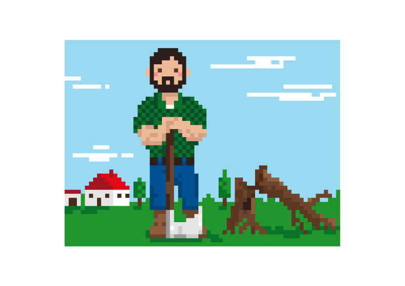 Caperucita píxel art  3