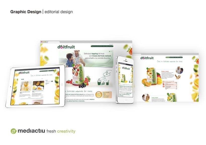 Proyecto global, editorial, web design, elementos promocionales 3