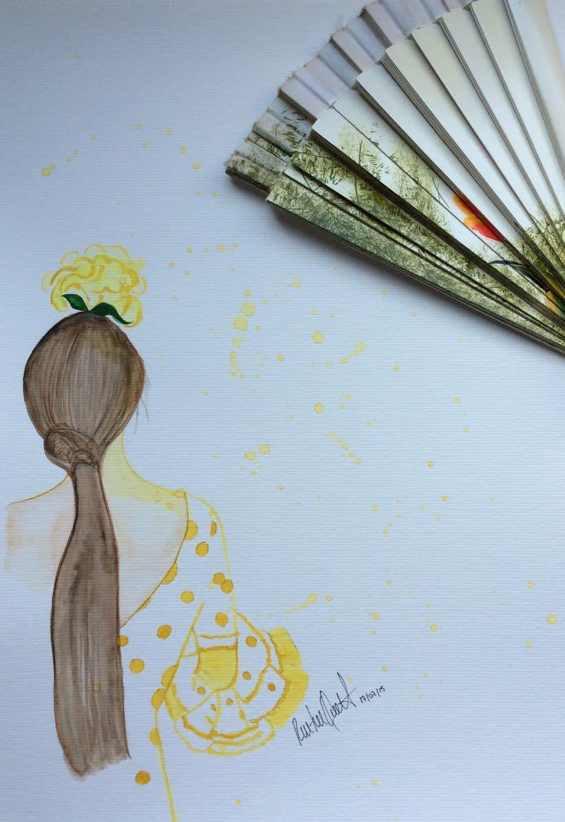 Flamenca , watercolor -1