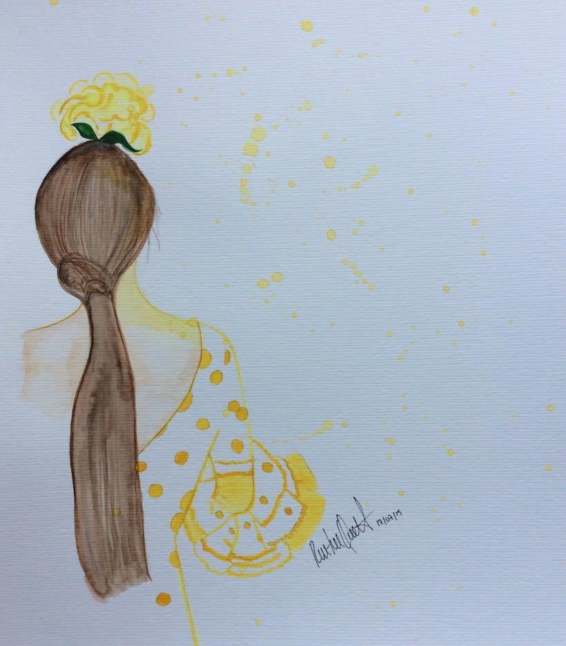 Flamenca , watercolor 1