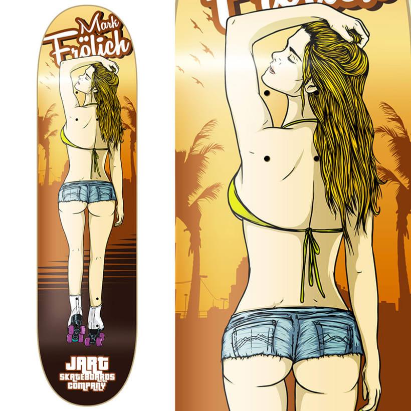 Jart Skateboards - Venice Beach Roller Babes Pro Series 2