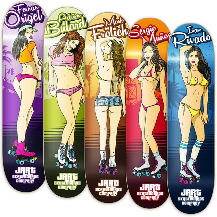 Jart Skateboards - Venice Beach Roller Babes Pro Series 0