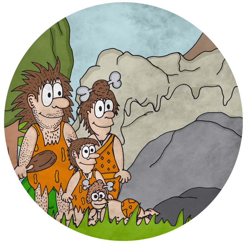 """Ilustraciones del libro """"La historia de Nelu y su familia"""" 2"""