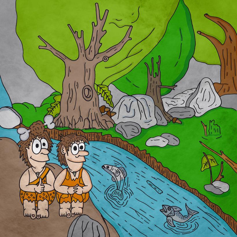 """Ilustraciones del libro """"La historia de Nelu y su familia"""" 1"""