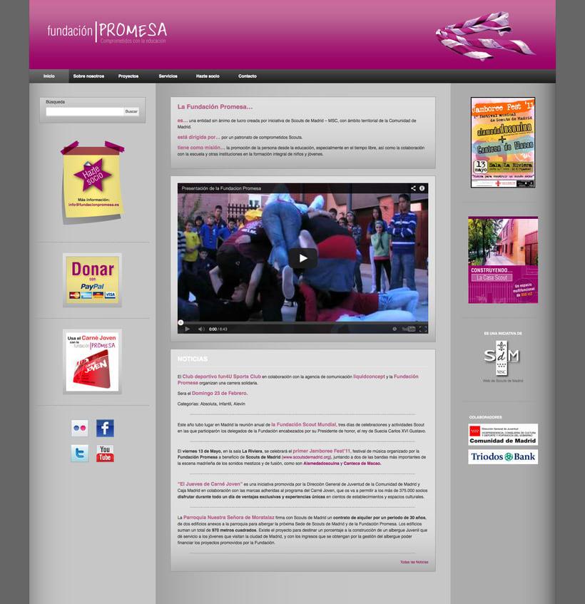Fundación Promesa (Wordpress) 1