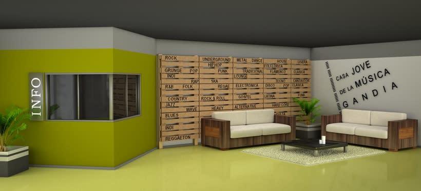 Infografía hall 3D 1