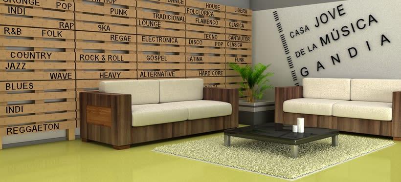 Infografía hall 3D 4