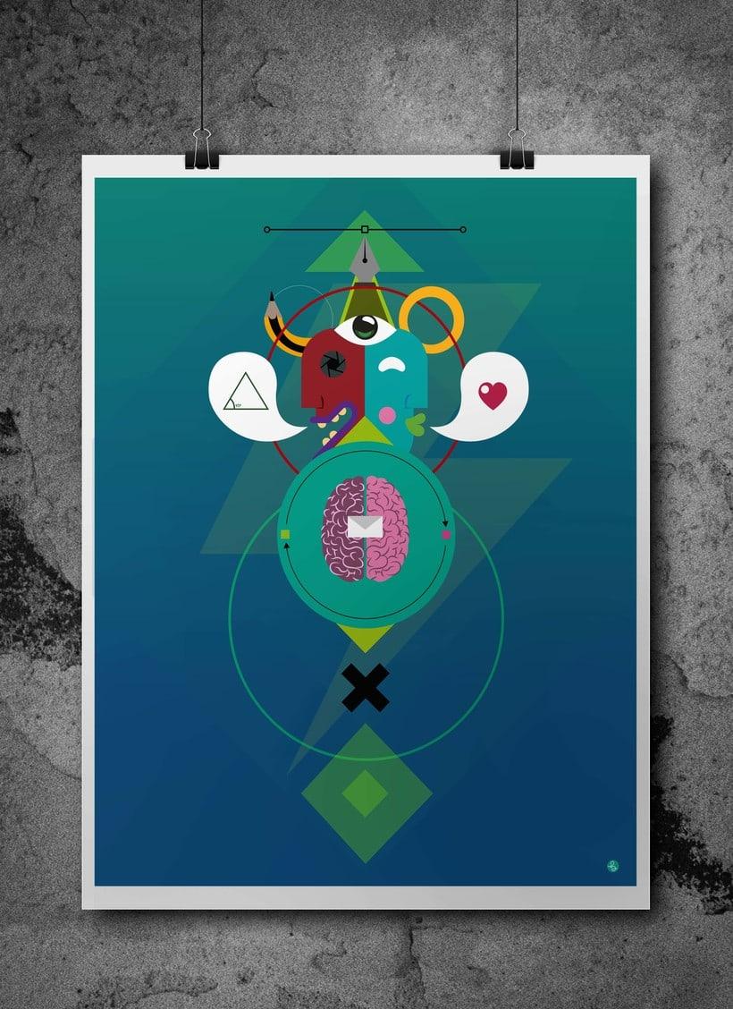 Diseño de portada para el nº1 de la revista de la escuela de arte de Cadiz -1