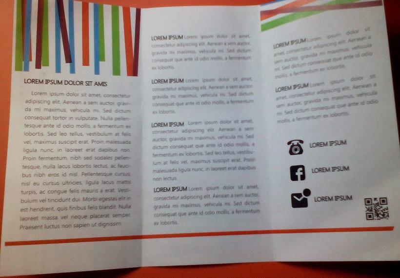 tr u00edptico  ejemplo de identidad creativa para empresa