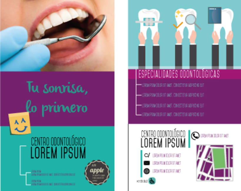 Dentist advertising flyer example 0