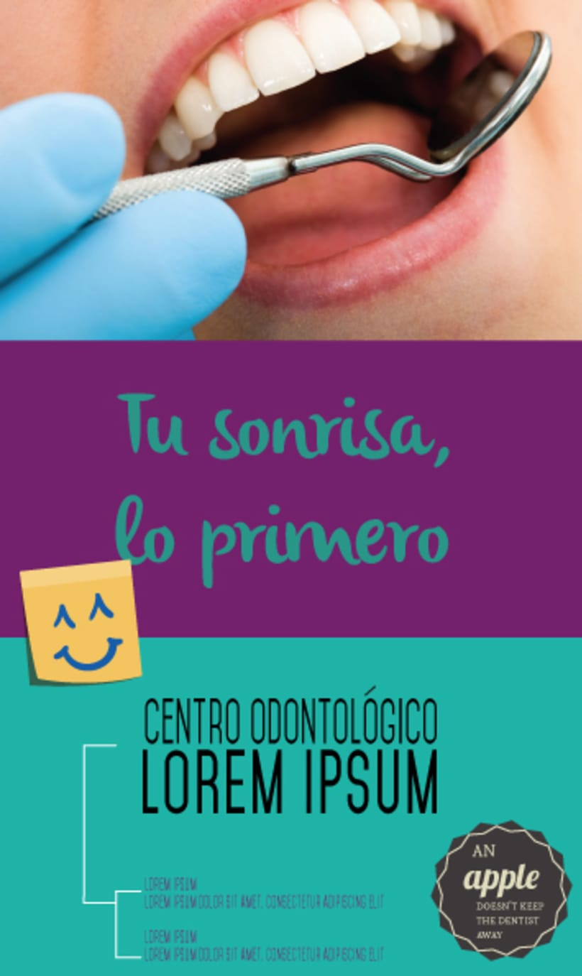Dentist advertising flyer example 1