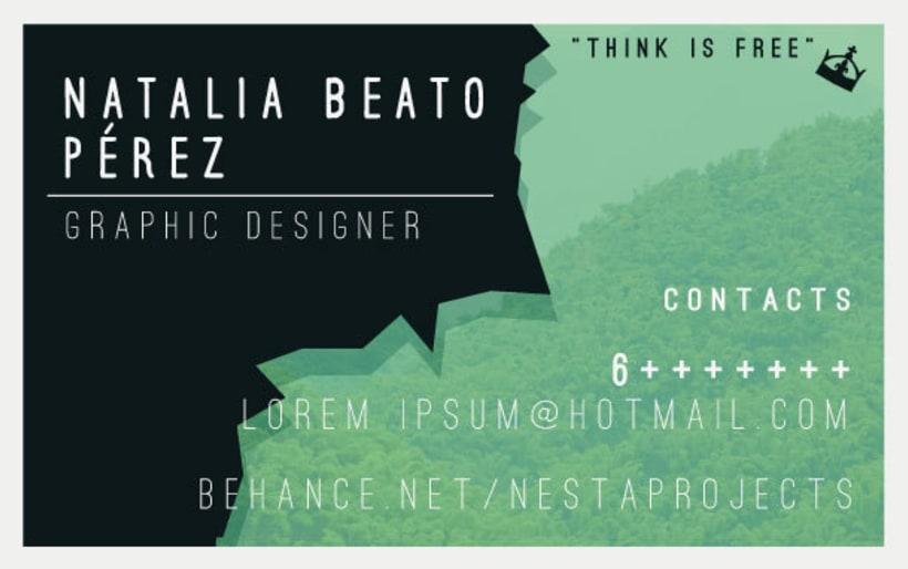 Personal Card Nesta Brand 5