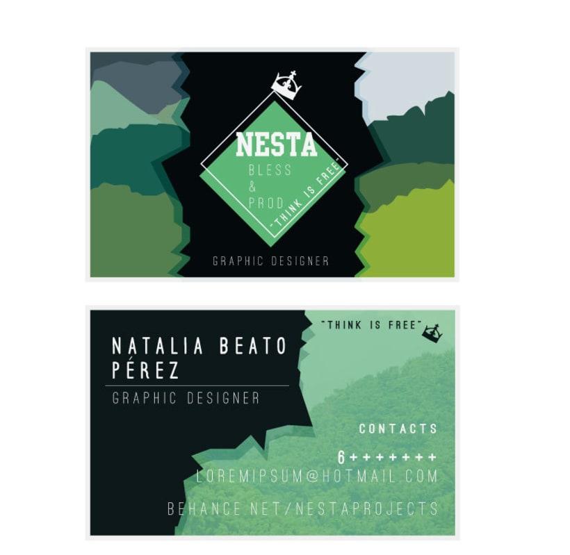 Personal Card Nesta Brand 6