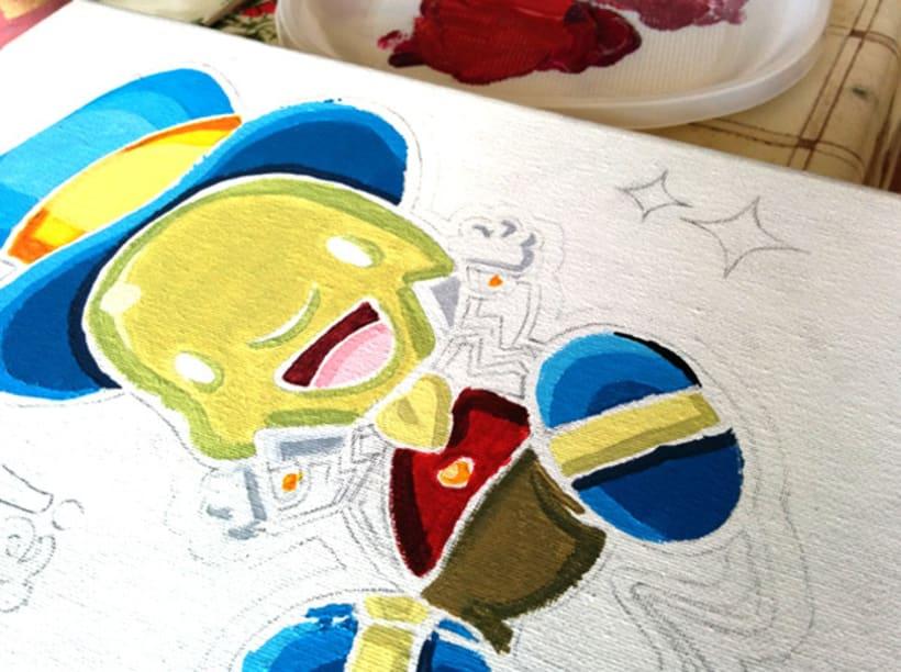 """Canvas """"Dame un silbidito"""" para la exposición colectiva """"La verdad sobre Pinocho"""" 7"""