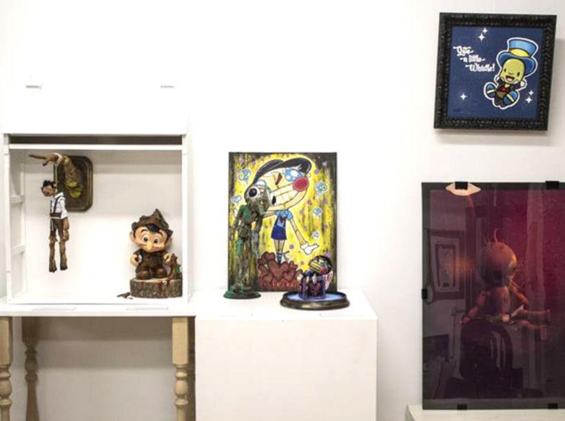 """Canvas """"Dame un silbidito"""" para la exposición colectiva """"La verdad sobre Pinocho"""" 13"""