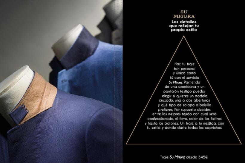 Catálogo de sastrería en trajes de hombre.  2