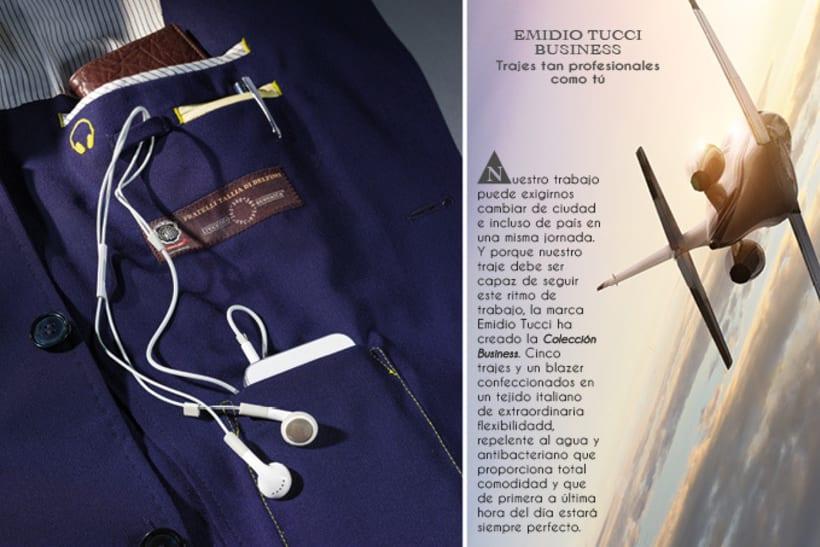 Catálogo de sastrería en trajes de hombre.  4