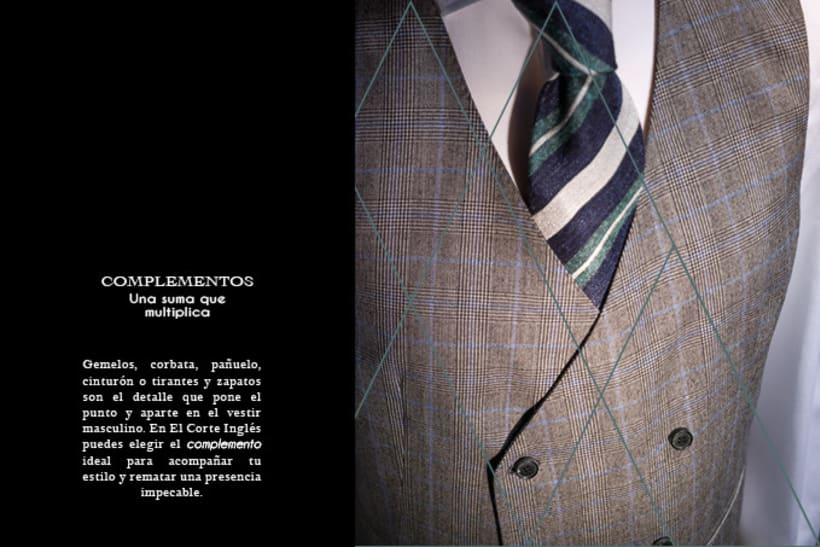 Catálogo de sastrería en trajes de hombre.  5