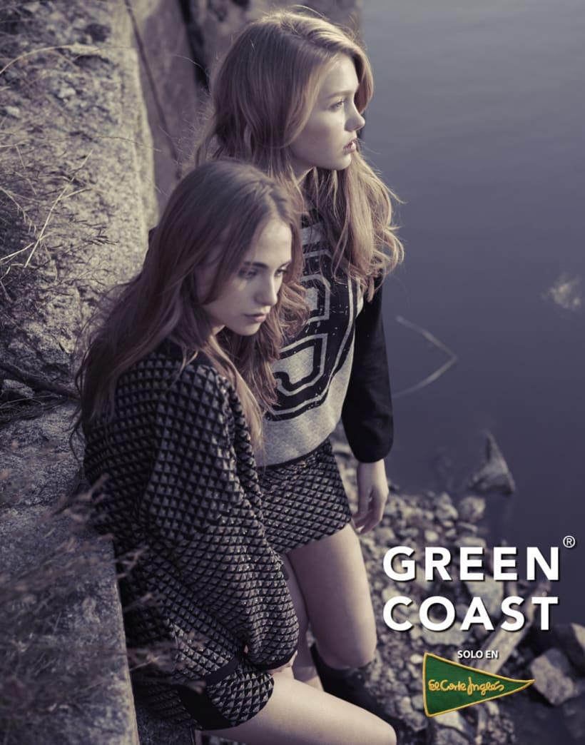 Fotografía y gráfica publicitaria de moda para la marca Green Coast 1