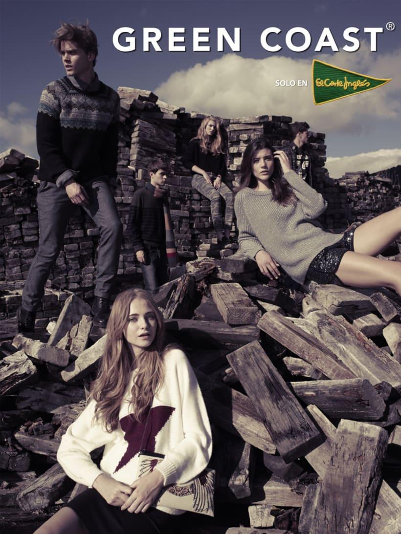 Fotografía y gráfica publicitaria de moda para la marca Green Coast 0