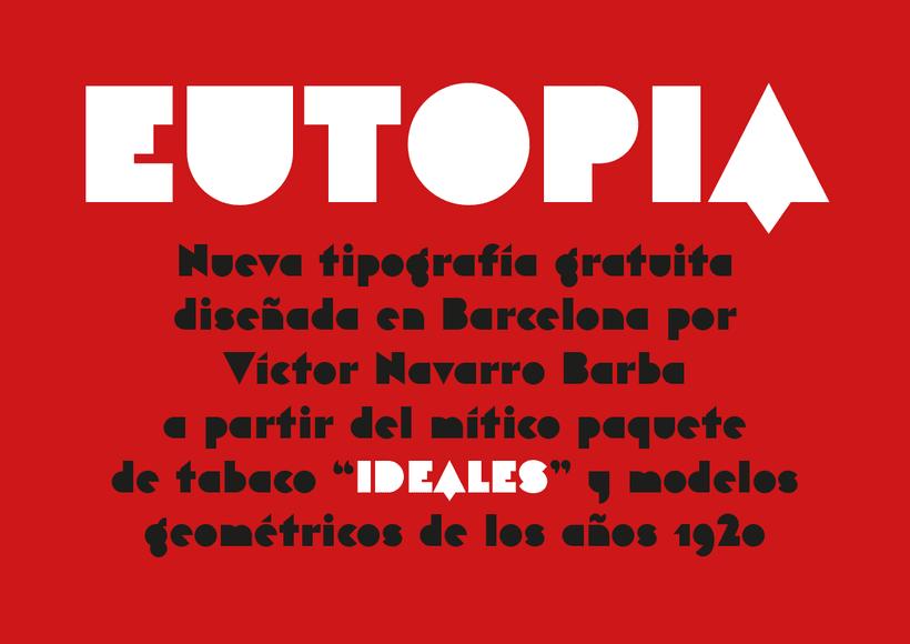 Eutopia, una tipografía geométrica gratuita 0