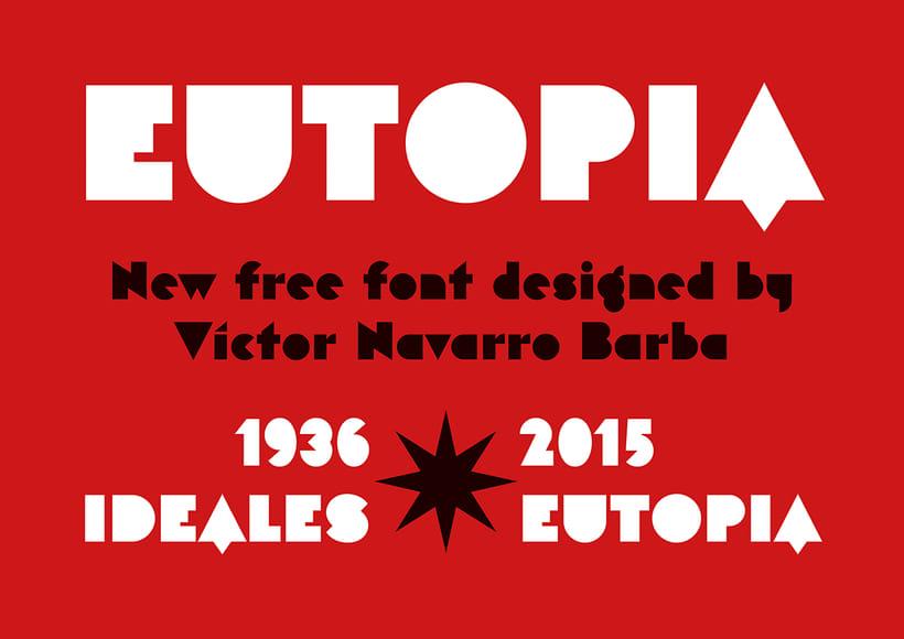 Eutopia, una tipografía geométrica gratuita 4