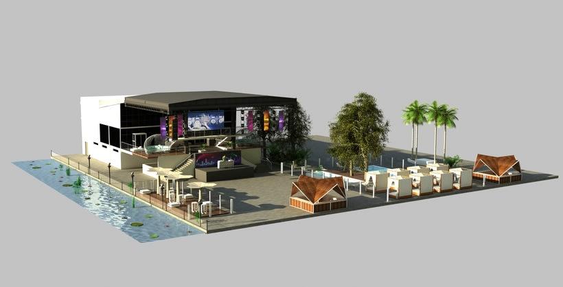 Diseño 3D discoteca Falkata (Playa de Gandia) 2