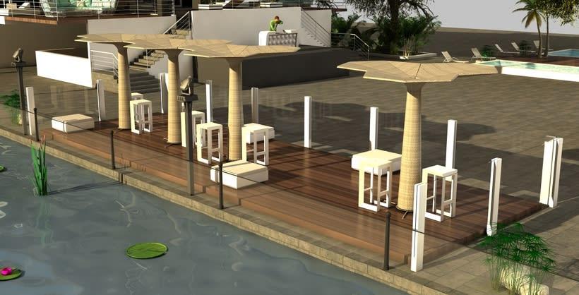 Diseño 3D discoteca Falkata (Playa de Gandia) 3