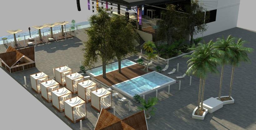 Diseño 3D discoteca Falkata (Playa de Gandia) 4