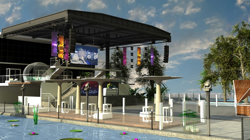 Diseño 3D discoteca Falkata (Playa de Gandia) 5