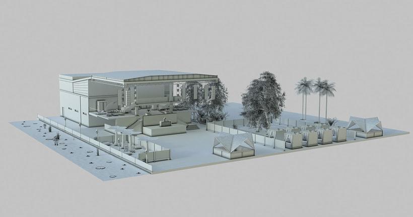 Diseño 3D discoteca Falkata (Playa de Gandia) 6