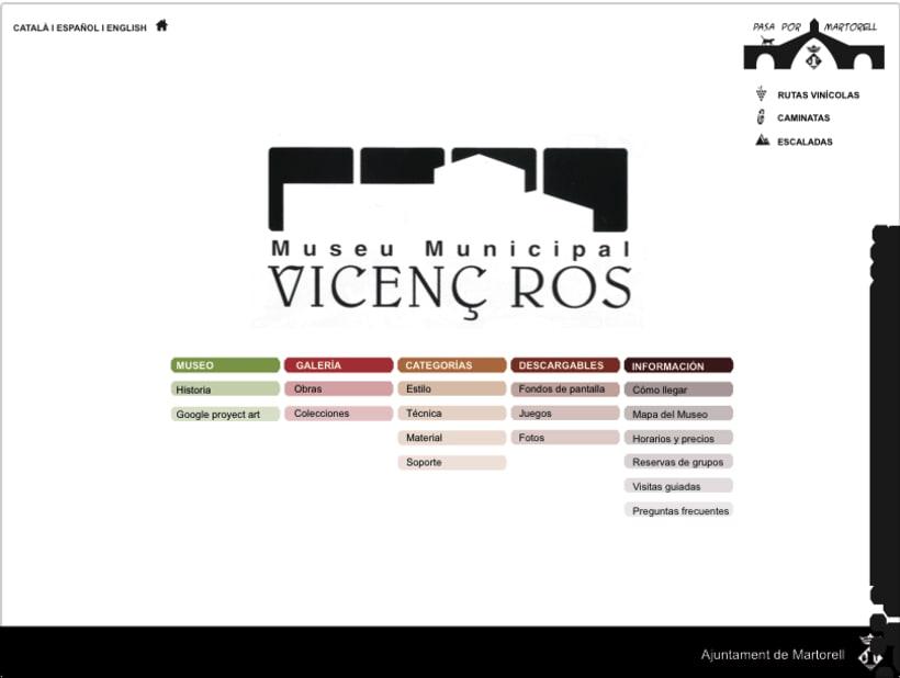 Diseño web Museo Vicenç Ros 0