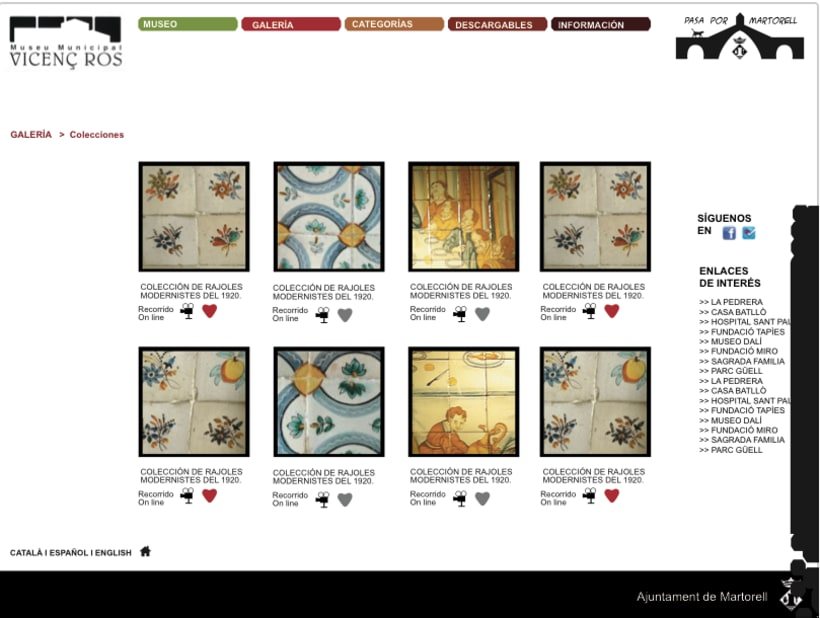 Diseño web Museo Vicenç Ros 1